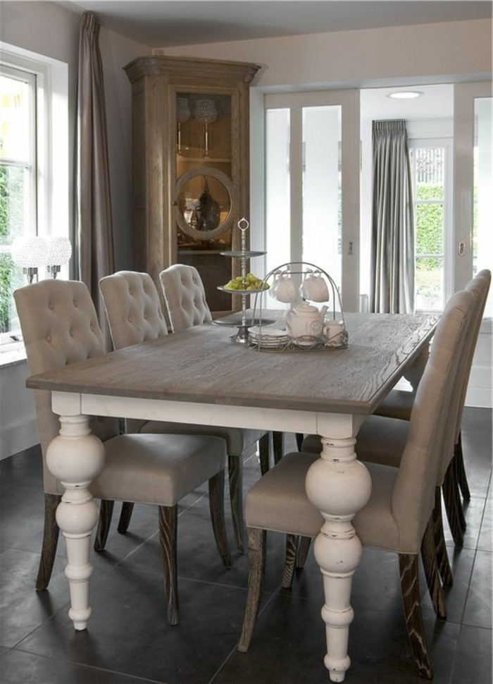 Еsszimmer Ideen Geposlterte Barock Stühle