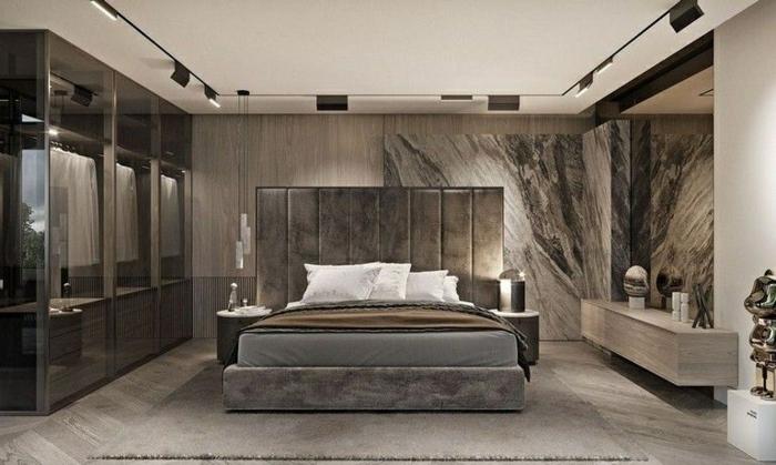 1 schlafzimmer wandgestaltung ideen zimmergestaltung in grau schlafzimmereinirchtung ideen wohnung dekorieren