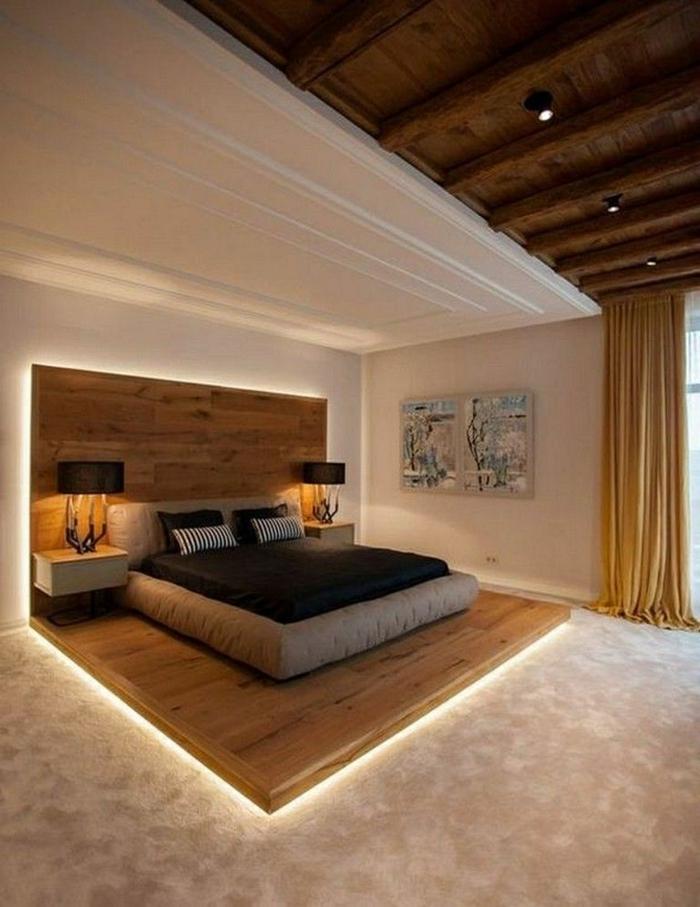 1 schlafzimmer wandgestaltung zimmer einrichten ideen schlafzimmereinrichtung schlafzimmerbeleuchtung wände streichen wanddeko