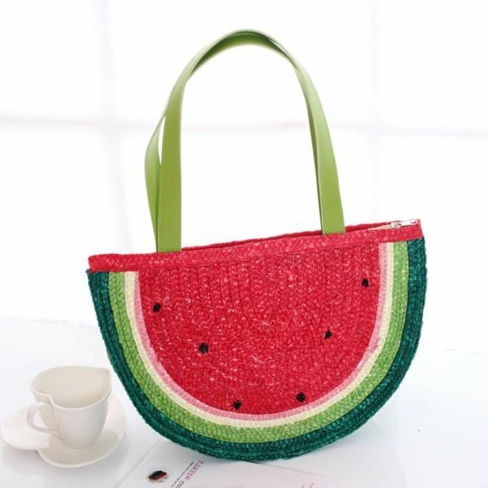 Ausgefallene-Handtaschen-wassermelone-form