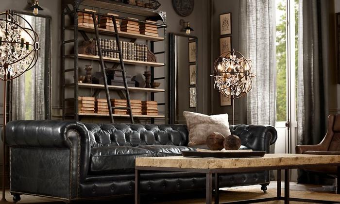 Bücherregal-Leiter-für-ein-elegantes-Zimmer