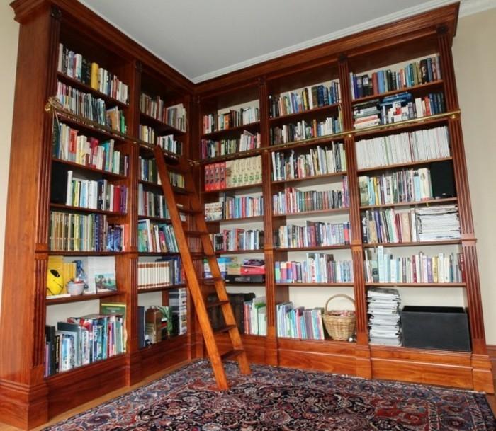 Bücherregal-Leiter-vollig-aus-Eichen