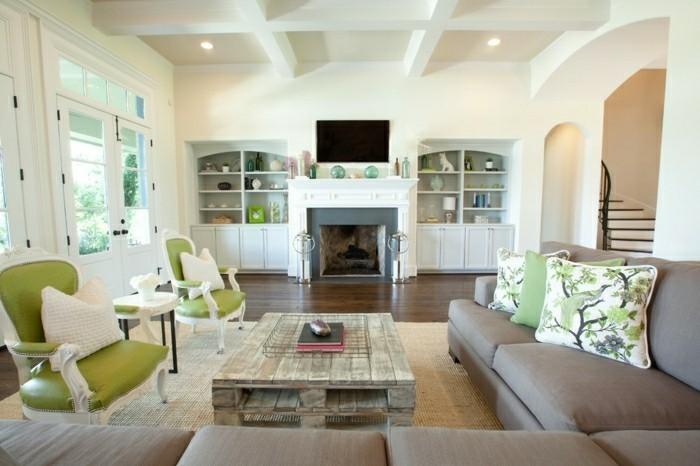 Couchtisch Selber Bauen Paletten Moderne Wohnzimmer Gestaltung