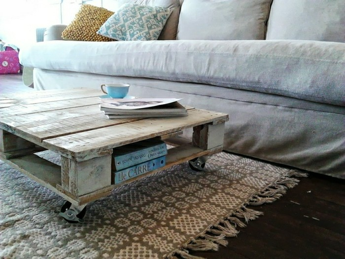 paletten ideen wohnzimmer:Couchtisch selber bauen: Wohnzimmer Sitzecke, die zu gemütlichen
