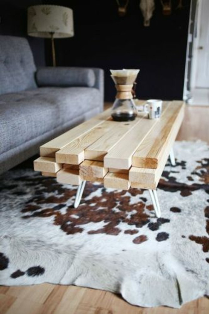 Couchtisch selber bauen ideen und n tzliche tipps Table basse planche bois