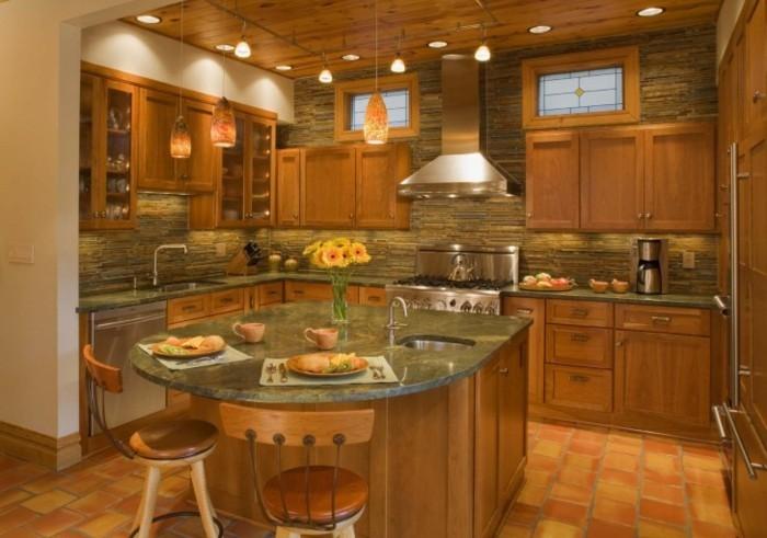 Decken-Gestalten-zu-dem-Design-der-Küche-passend