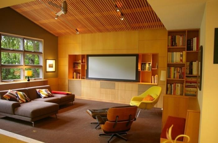Deckenverkleidung Aus Holz Natürliches Gefühl Zu Hause Archzinenet - Wohnzimmer deckenverkleidung