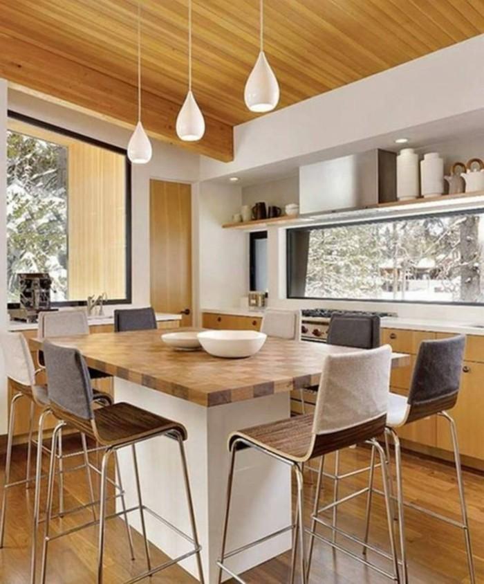 Deckenpaneele-in-einer-minimalistischen-Küche