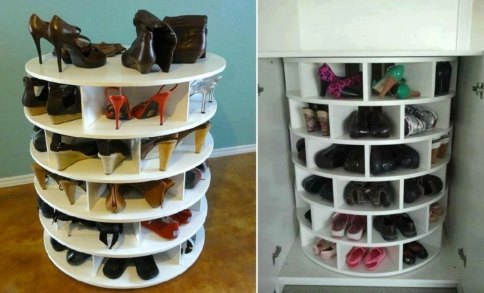Schuhschrank design ein h uschen f r die schuhe for Schuhschrank rund
