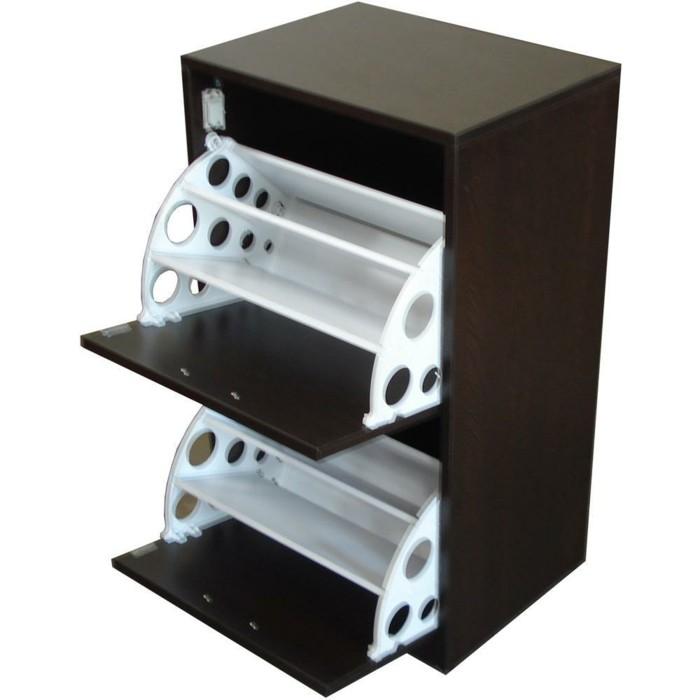 Design-Schuhschrank-mit-zwei-fallende-Schubladen