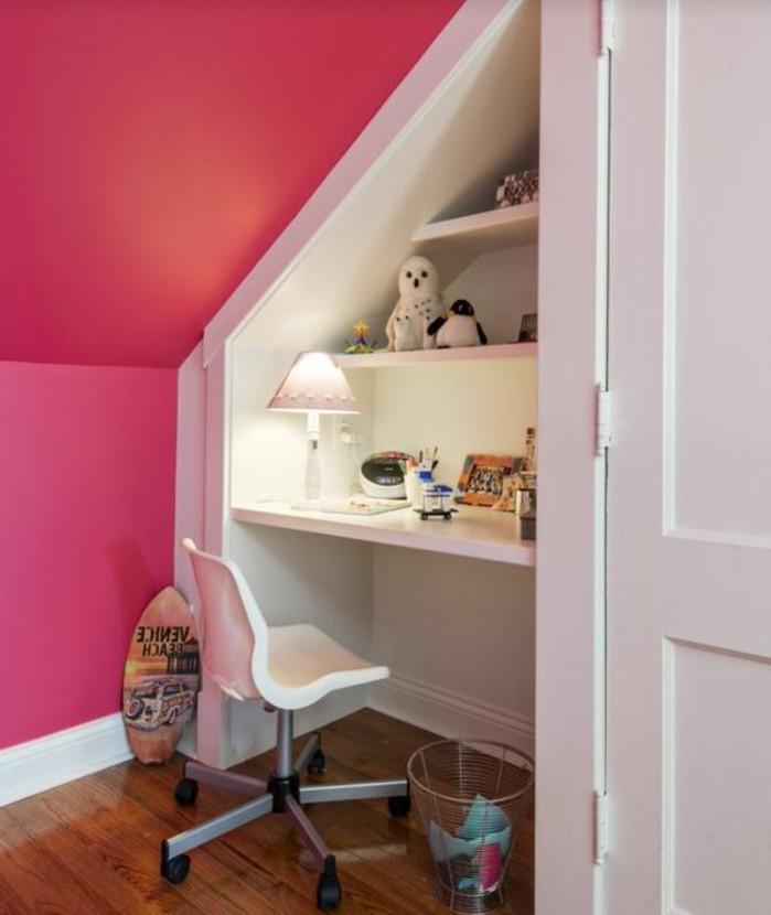 Einbauschrank-für-Dachschräge-freien Raum-optimal-ausnutzen-Einrichtungsideen-Kinderzimmer