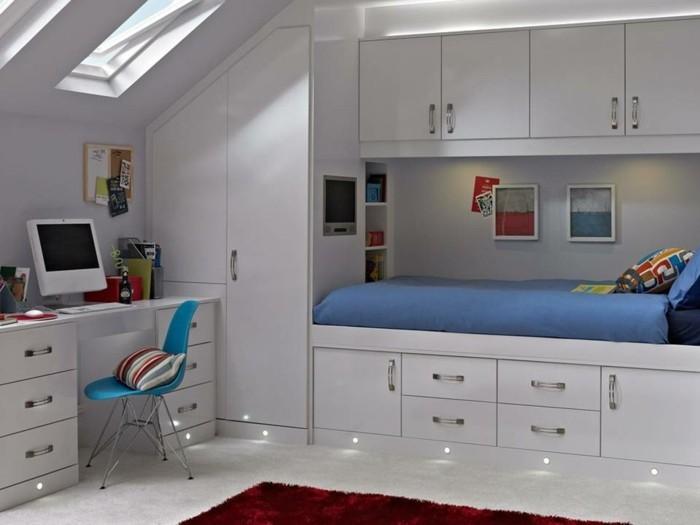 Einbauschrank-für-Dachschräge-freien Raum-optimal-ausnutzen-Einrichtungsideen-Kinderzimmer2