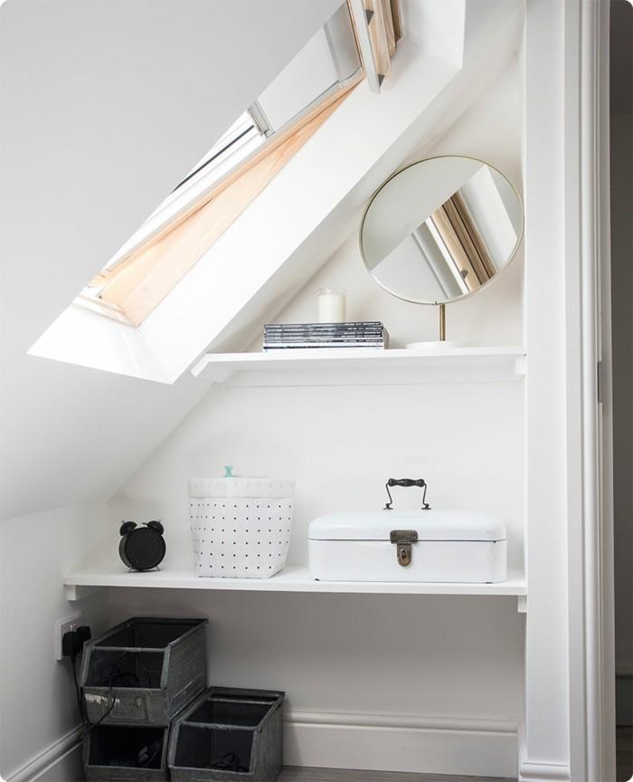 Einbauschrank-für-Dachschräge-freien Raum-optimal-ausnutzen-Einrichtungsideen-Regal7