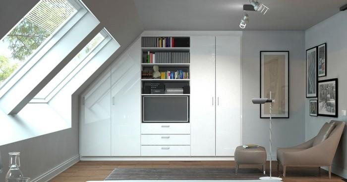 Einbauschrank-für-Dachschräge-freien Raum-optimal-ausnutzen-Einrichtungsideen-Schlafzimmer3