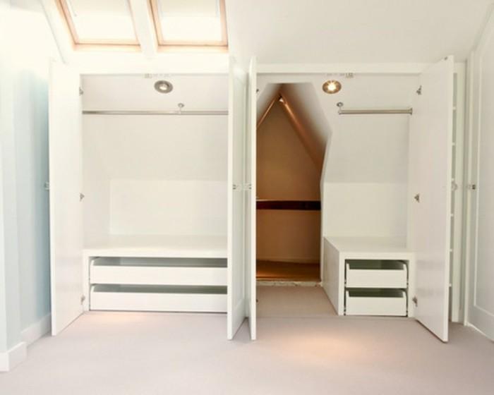 Einbauschrank-für-Dachschräge-freien Raum-optimal-ausnutzen-Einrichtungsideen-Schrank3