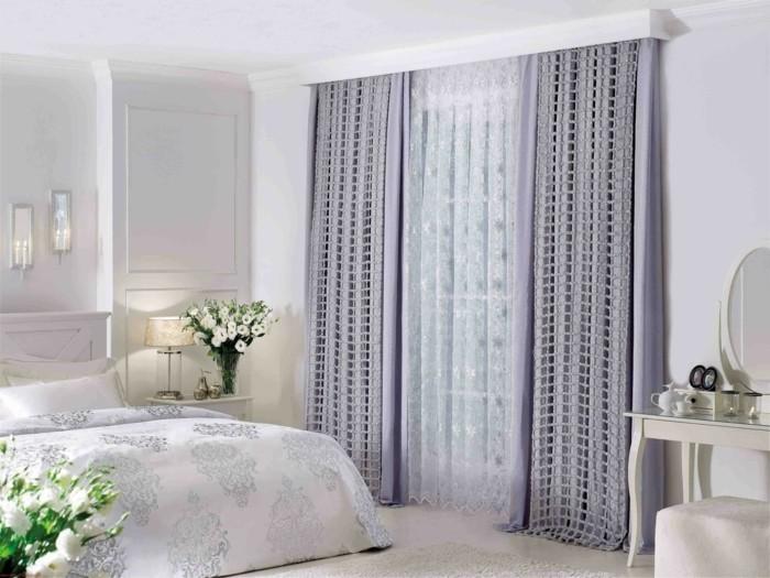 60 elegante Designs von Gardinen für große Fenster   Archzine.net