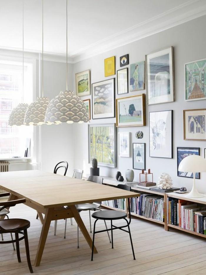 Fotowand-Ideen-arbeitszimmer-besprechungstisch-holz