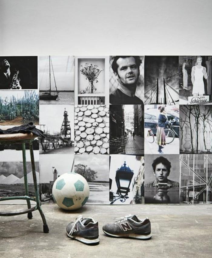 55 ausgefallene bilderwand und fotowand ideen. Black Bedroom Furniture Sets. Home Design Ideas
