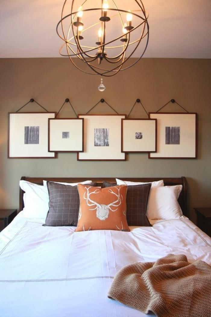 55 ausgefallene bilderwand und fotowand ideen - Ausgefallene schlafzimmer ...