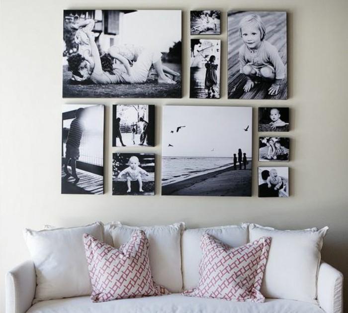 Fotowand-schwarz-weiße-fotos-sofa-mit-zwei-kissen
