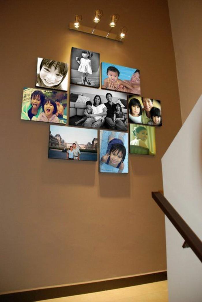 Fotowand-selber-machen-im-treppenraum