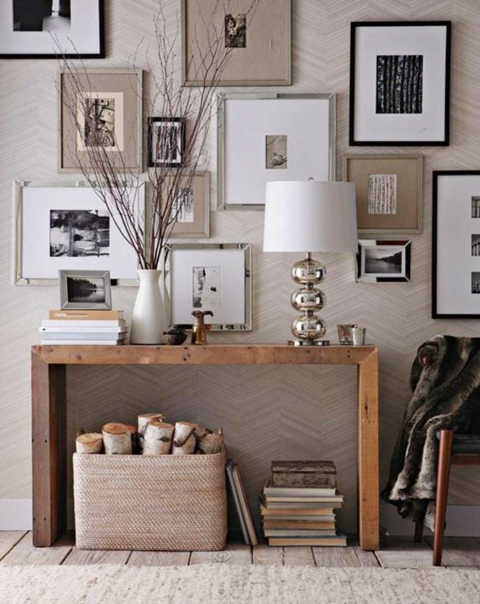 fotowand selber machen schne lampe holz tisch - Ideen Holz