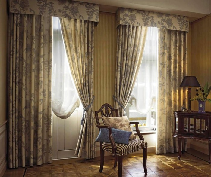 60 elegante designs von gardinen f r gro e fenster. Black Bedroom Furniture Sets. Home Design Ideas