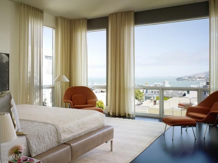 60 elegante Designs von Gardinen für große Fenster ...