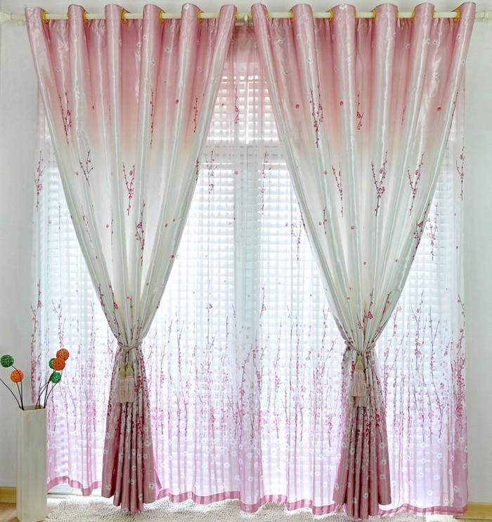 gardine wohnzimmer idee:60 elegante Designs von Gardinen für große Fenster