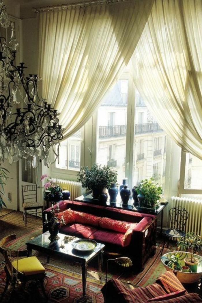 Gardinen-für-große-Fenster-in-grüner-Farbe