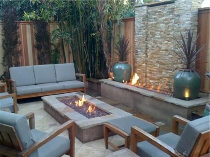Gartengestaltung Sichtschutz Feuerstelle Und Loungemöbel