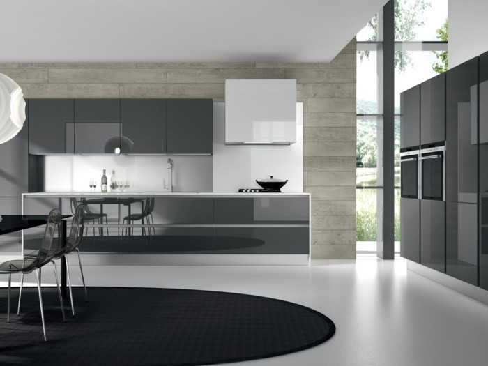 Gestalltungsideen-für-Moderne-Küche-Glasrückwand-Schwarz8