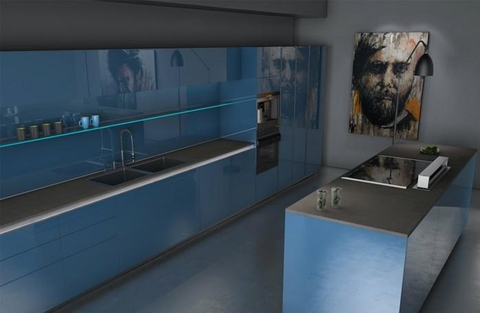 Gestalltungsideen-für-Moderne-Küche-Glasrückwand-weiß-blau4