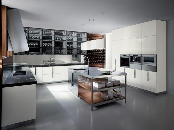 Gestaltungsideen Für Moderne Küche Glasrückwand Archzinenet