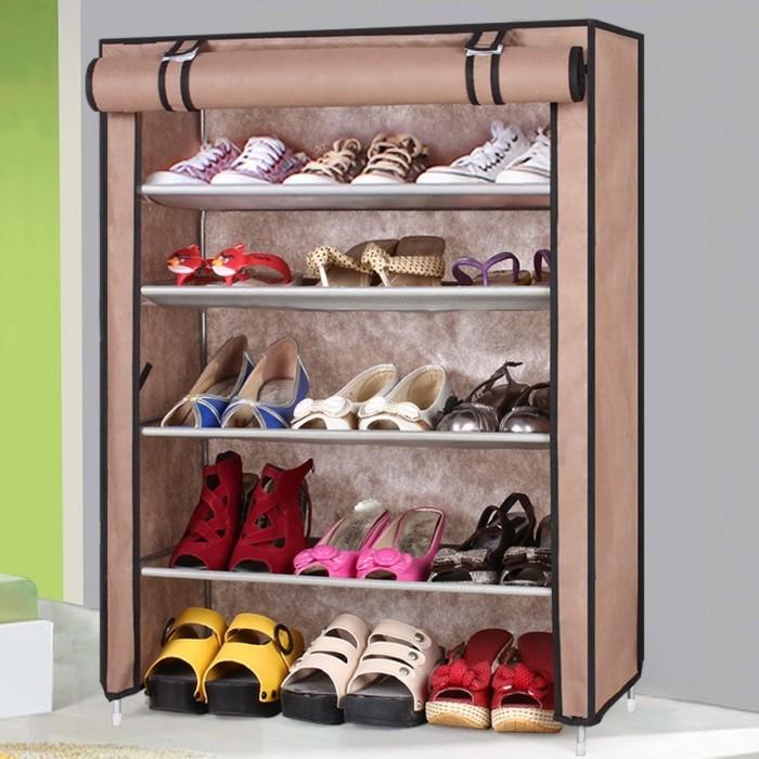 Großer-Schuhschrank-aus-braunem-Stoff