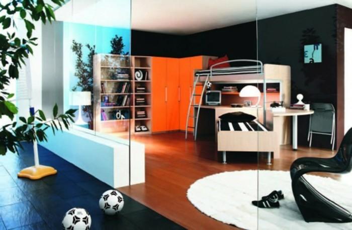 Hochbett-für-Jugendliche-in-Designer-Zimmer