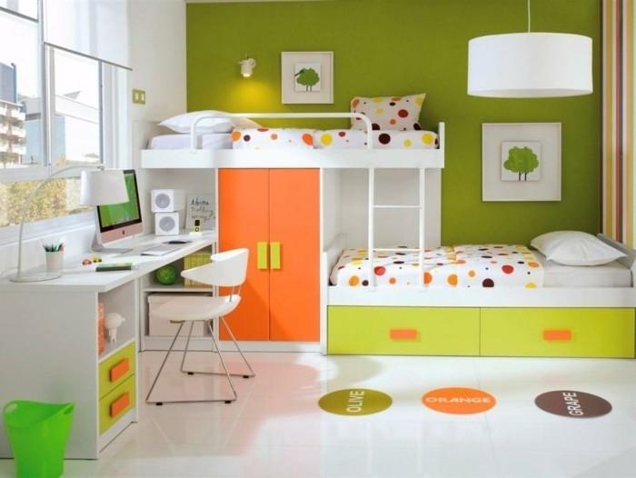 Hochbett-für-Jugendliche-in-grünem-Zimmer