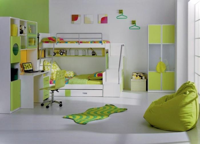 Hochbett-für-Jugendliche-in-grüner-Farbe