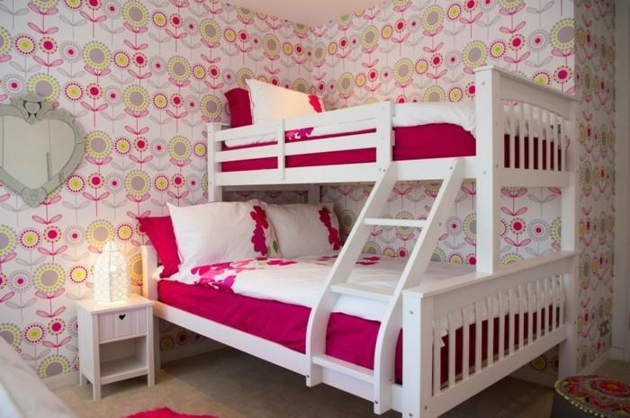 Hochbetten-für-Mädchen-im-gemütlichen-Jugendzimmer