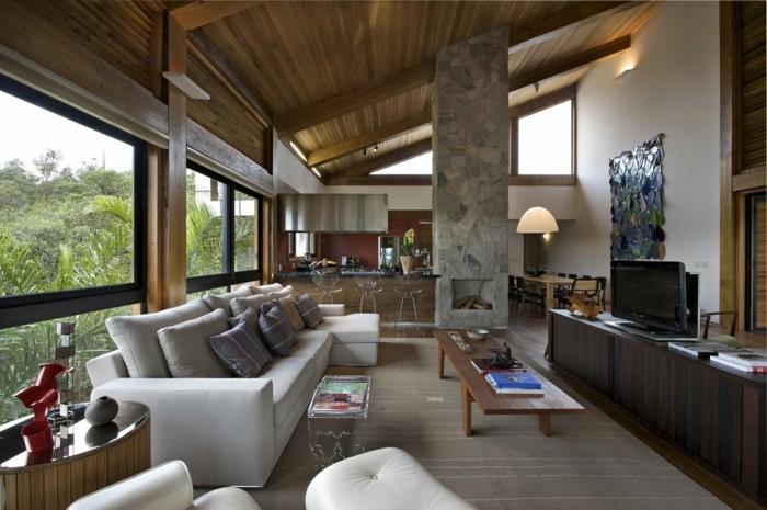 Holzdecke-Paneele-ganz-rustikale-Wirkung