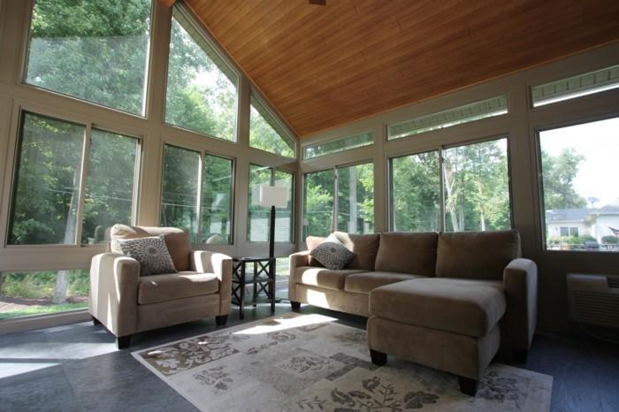 wohnzimmer decken paneele:Deckenverkleidung aus Holz – natürliches Gefühl zu Hause