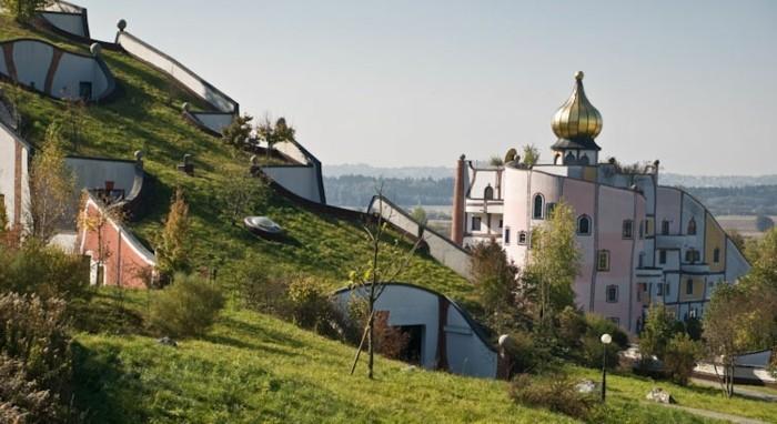Hundertwasser-Architektur-Umwelt-Natur-Dorf