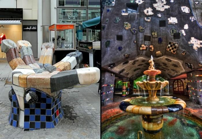 Hundertwasser-Haus-Österreich-Wien-Hundertwasserhaus-Springbrunnen