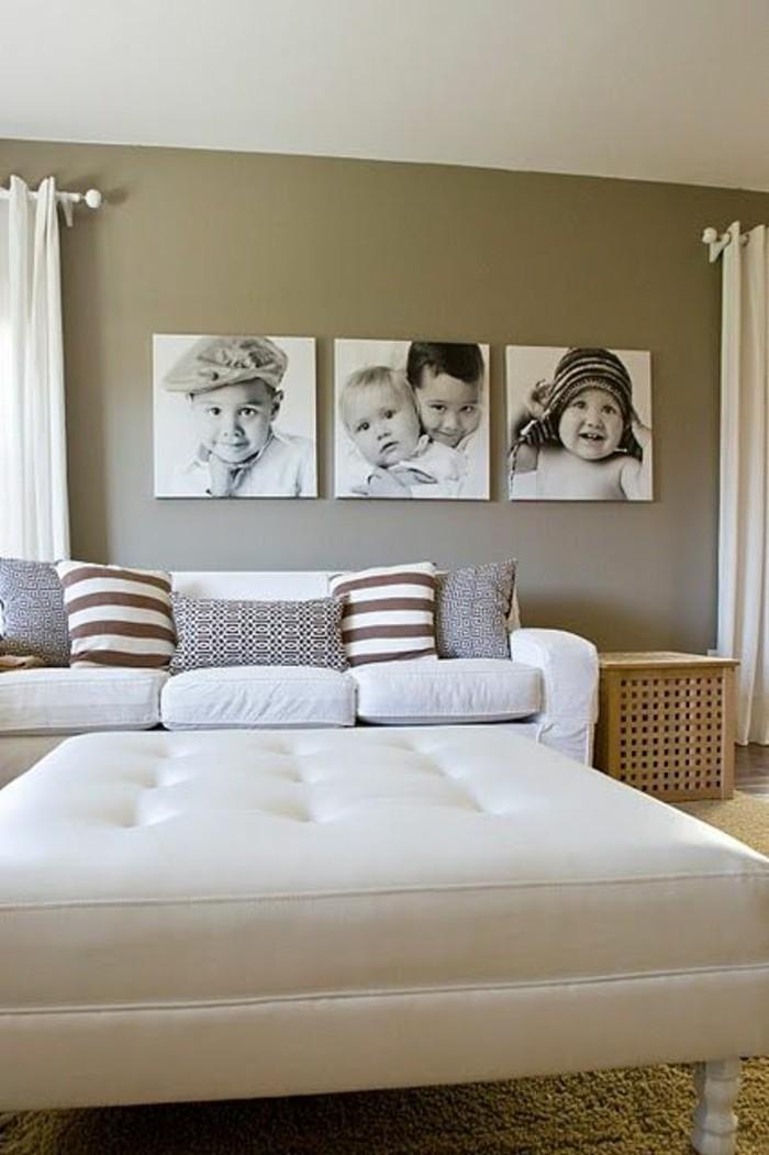Ideen-Fotowand-im-schlafzimmer-oder-wohntimmer-mit-weißen-möbeln