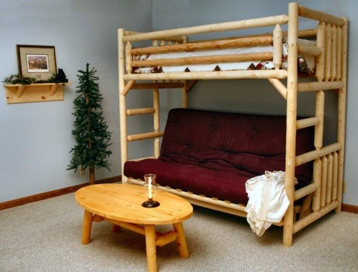 Jugendzimmer mit hochbett 90 raumideen f r teenagers for Couch unter hochbett