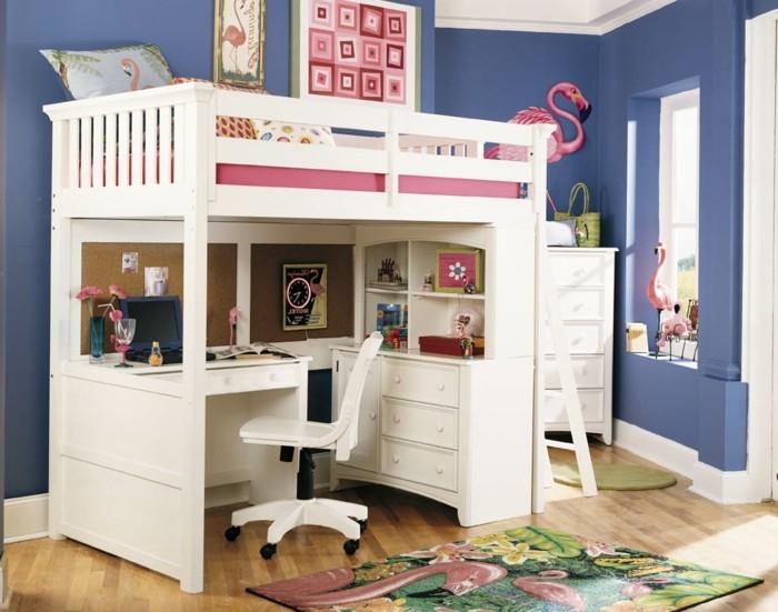 Jugendzimmer-Ideen-mit-rosa-Vögel-als-Dekoration