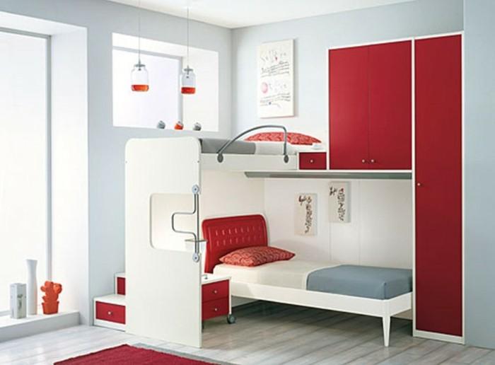 Jugendzimmer-Ideen-mit-rotem-Schrank