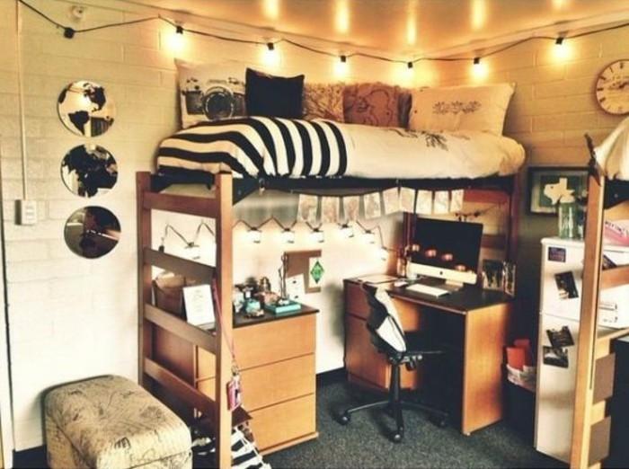 jugendzimmer einrichten mit hochbett 90 raumideen fur. Black Bedroom Furniture Sets. Home Design Ideas