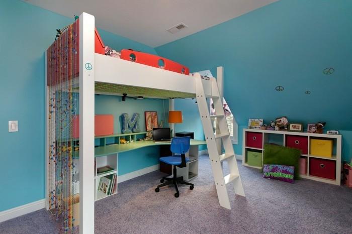 Jugendzimmer-einrichten-mit-blauen-Wänden