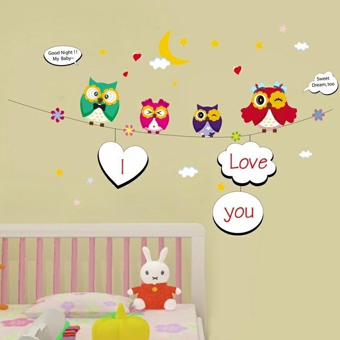 Tapeten Kinderzimmer Sterne : Kinderzimmer-Tapeten-Ideen-mit-Aufschriften